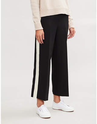 E.m. ME AND Striped high-rise wide-leg woven trousers