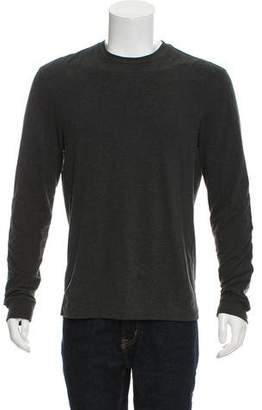 Ralph Lauren Black Label Leather-Accented Long Sleeve Shirt