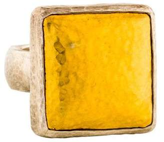 Gurhan Two-Tone Square Amulet Ring