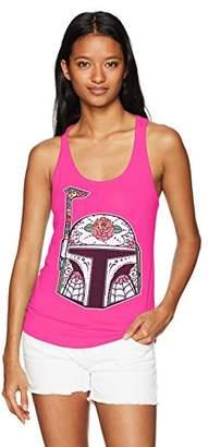 Star Wars Women's Boba Fett Helmet Racerback Tank Top
