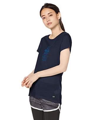 [エスエヌ スーパーナチュラル] Tシャツ ヨガ メリノウール グラフィックTシャツ レディース SNW013033 Navy Blazer/Freedom Print EU S (日本サイズ9 号相当)