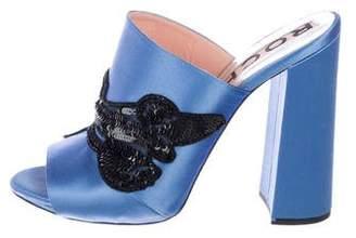 Rochas Satin Embellished Sandals