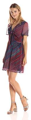 Paris Sunday Women's Open Front Tie Fit and Flare Dress