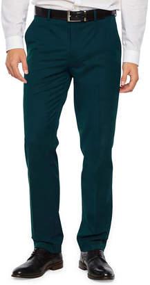 Jf J.Ferrar Dark Teal Slim Fit Stretch Suit Pants