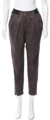 Yigal Azrouel High-Rise Leather Pants w/ Tags