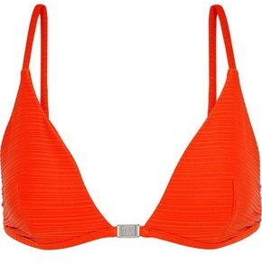 Jets Disposition Ribbed Triangle Bikini Top