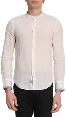 Blauer Shirt Shirt Men