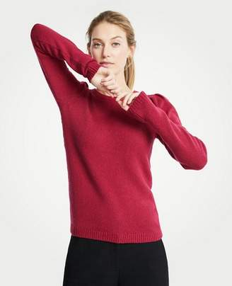 Ann Taylor Puff Shoulder Sweater
