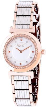 Johan Eric Djursland Quartz Swarovski Crystal Two Tone Stainless Steel Bracelet Watch