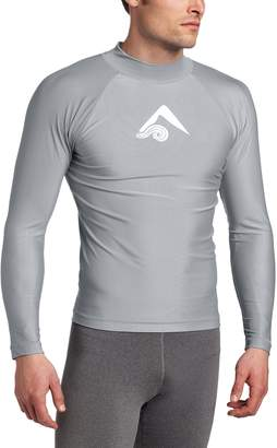 Kanu Surf Men's Long Sleeve Platinum UPF 50+ Rashguard Swim Tee