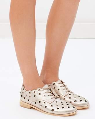 Walnut Melbourne Olive Star Lace-Up Shoes