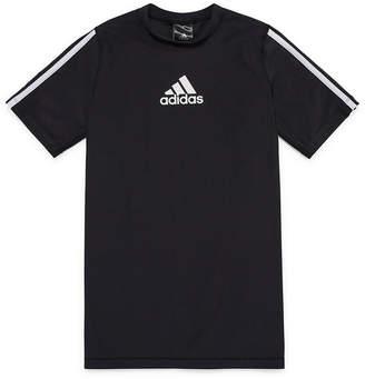 adidas Short Sleeve Rash Guard-Boys 8-20