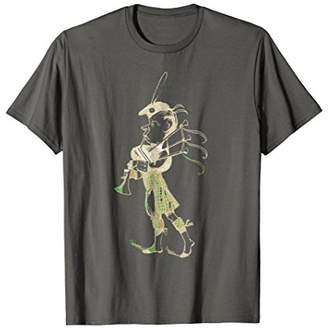 Vintage Graphic T Shirts - Scottish Bagpiper in a Kilt Tee