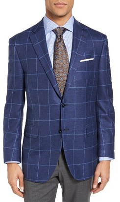 Men's Peter Millar Classic Fit Windowpane Wool Sport Coat $695 thestylecure.com