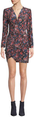 IRO Fling V-Neck Long-Sleeve Tulip Dress