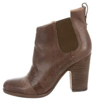 Belle by Sigerson Morrison Leather Round-Toe Ankle Boots