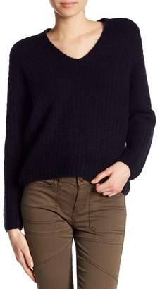 Vince Ribbed Cashmere Blend Sweater