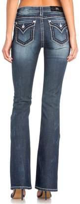 Miss Me Women's Classic Flap Pocket Boot Cut Jeans - M5014b284-D572