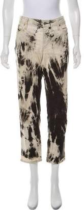 Junya Watanabe Splatter Print High-Rise Jeans