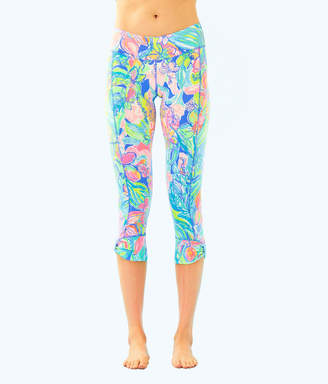 "Lilly Pulitzer UPF 50+ Luxletic 21"" Fara Weekender Crop Legging"