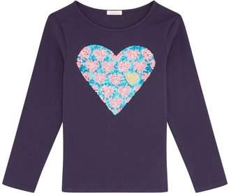 Billieblush Sequin Heart Top