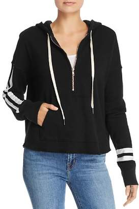 N. PHILANTHROPY Hickory Striped Hooded Sweatshirt