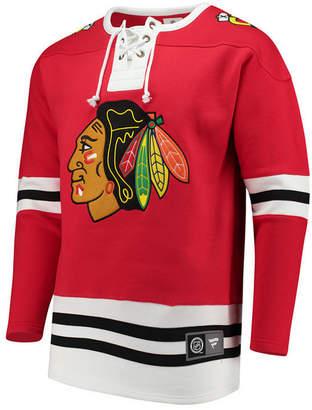 Majestic Men's Chicago Blackhawks Breakaway Lace Up Crew Sweatshirt