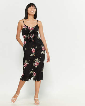 Mimichica Mimi Chica Twist Front Large Floral Camisole Dress