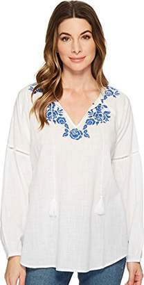 Jag Jeans Women's Elliot Shirt w/Embroidery