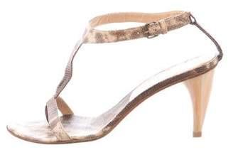 Alexander McQueen Embossed Slingback Sandals