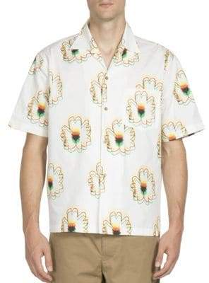 Stella McCartney Ron Floral Printed Cotton Shirt