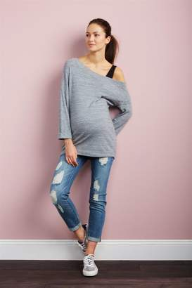 Luxe Essentials Denim Luxe Essentials Secret Fit Belly Kate Girlfriend Maternity Jeans