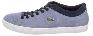 Lacoste Canvas Low-Top Sneakers