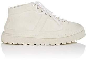 Marsèll Women's Suede Combat Boots - White