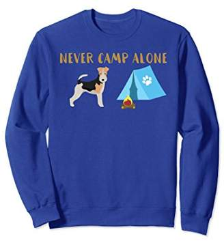 Wire Haired Fox Terrier Shirt Tent Camping Sweatshirt Gift