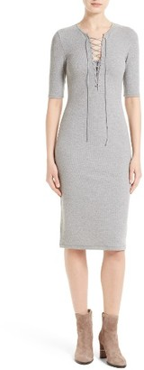 Women's Derek Lam 10 Crosby Lace-Up T-Shirt Dress $295 thestylecure.com