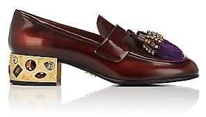 Prada Women's Embellished Leather Loafers - Aranc+Petu