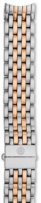 Michele Serein Two-Tone Stainless Steel & Rose Gold 7-Link Watch Bracelet, 16mm