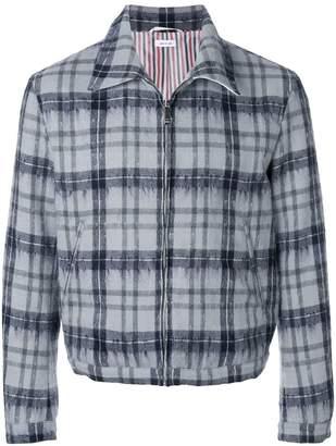 Thom Browne Tartan Elastic Hem Hairy Mohair Golf Jacket
