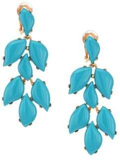 Kenneth Jay Lane Turquoise Clip-On Drop Earrings