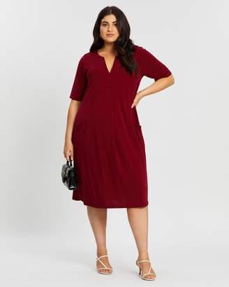 Evans V-Neck Pocket Dress