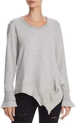 Wilt Ruffled Asymmetric Sweatshirt