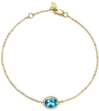 Bloomingdale's Blue Topaz Oval Bracelet in 14K Yellow Gold - 100% Exclusive