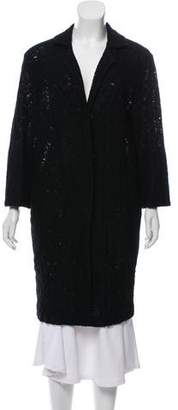 Roland Mouret Textured Knee-Length Coat