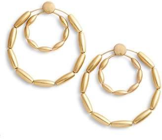 Rebecca Minkoff Sadie Front Facing Double Hoop Earrings