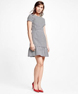 Cotton Blend Gingham Dress $198 thestylecure.com