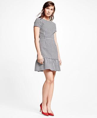 Cotton Blend Gingham Dress $198 thestylecure.com