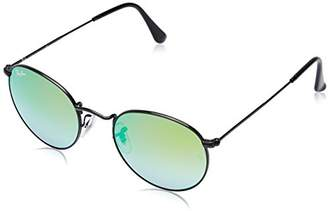 Ray-Ban ROUND METAL - Frame MIRROR GRADIENT GREEN Lenses 50mm Non-Polarized