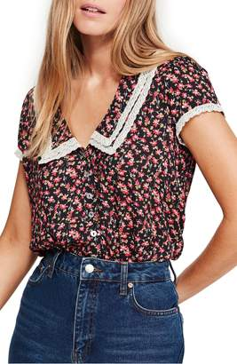 Free People The Ana Print Blouse