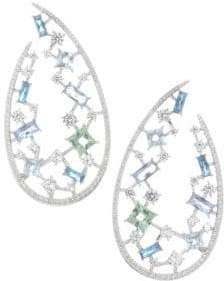 Adriana Orsini Azure & Crystal Wrap Hook Earrings